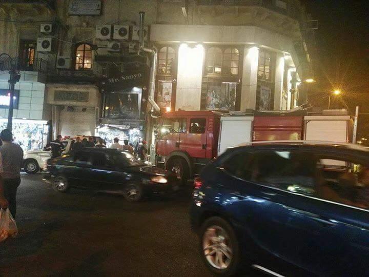 حريق نشب بأحد المطاعم وسط الإسكندرية (3)