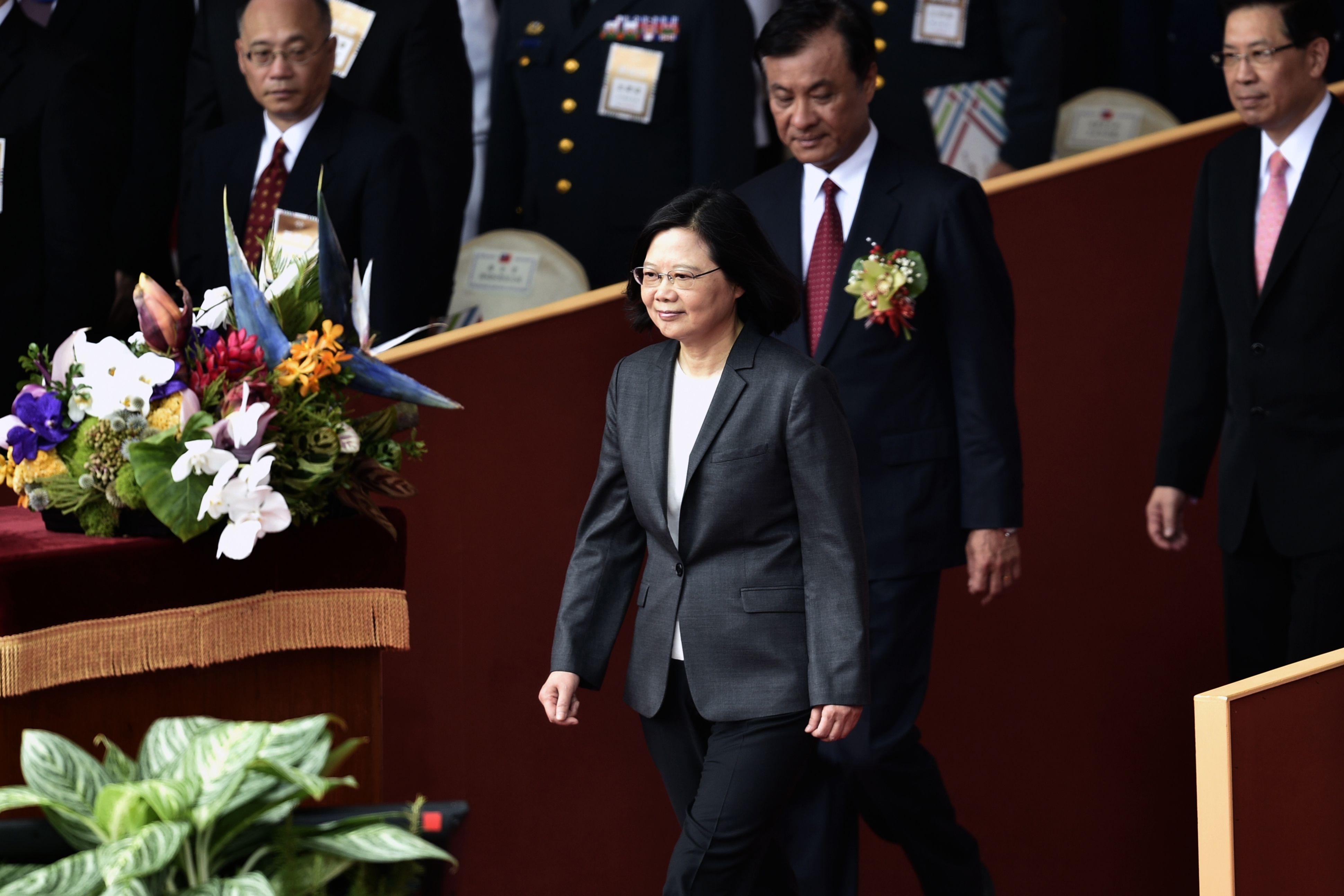 وصول رئيسة تايوان