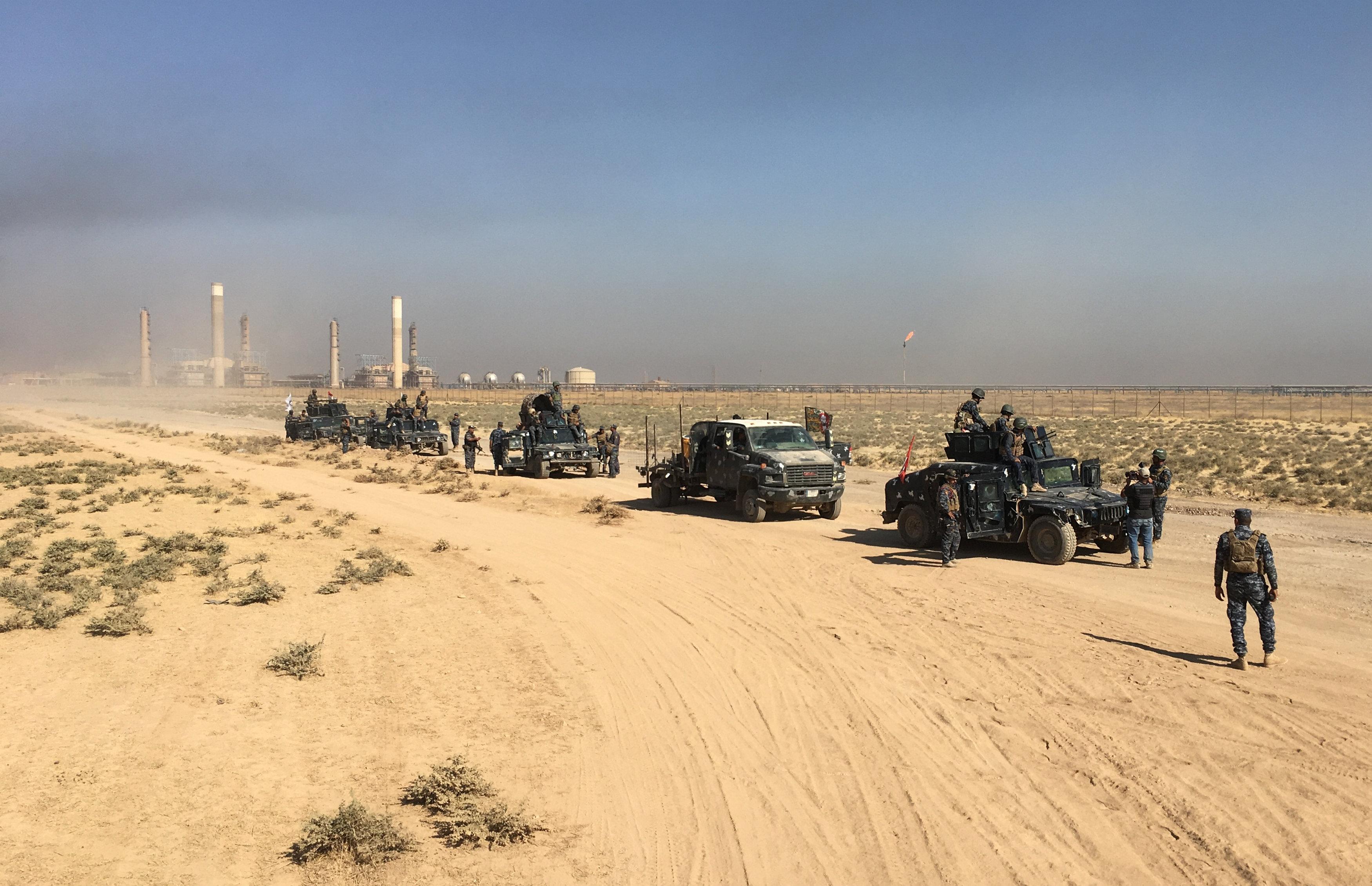 سيطرة الجيش العراقى على مصفاة النفط بكركوك