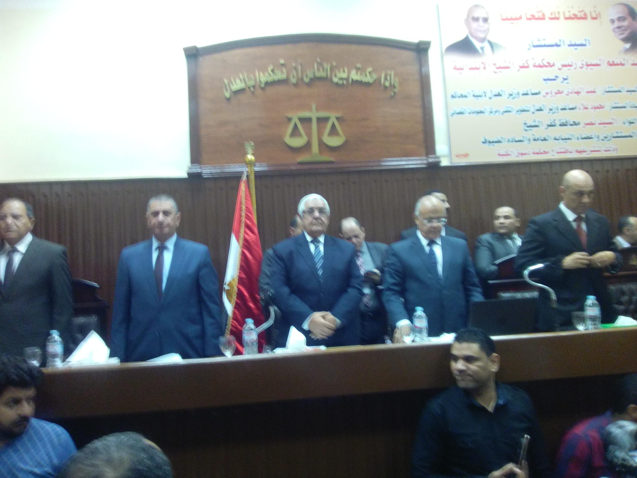 3- السلام الجمهوري عقب افتتاح المحكمة