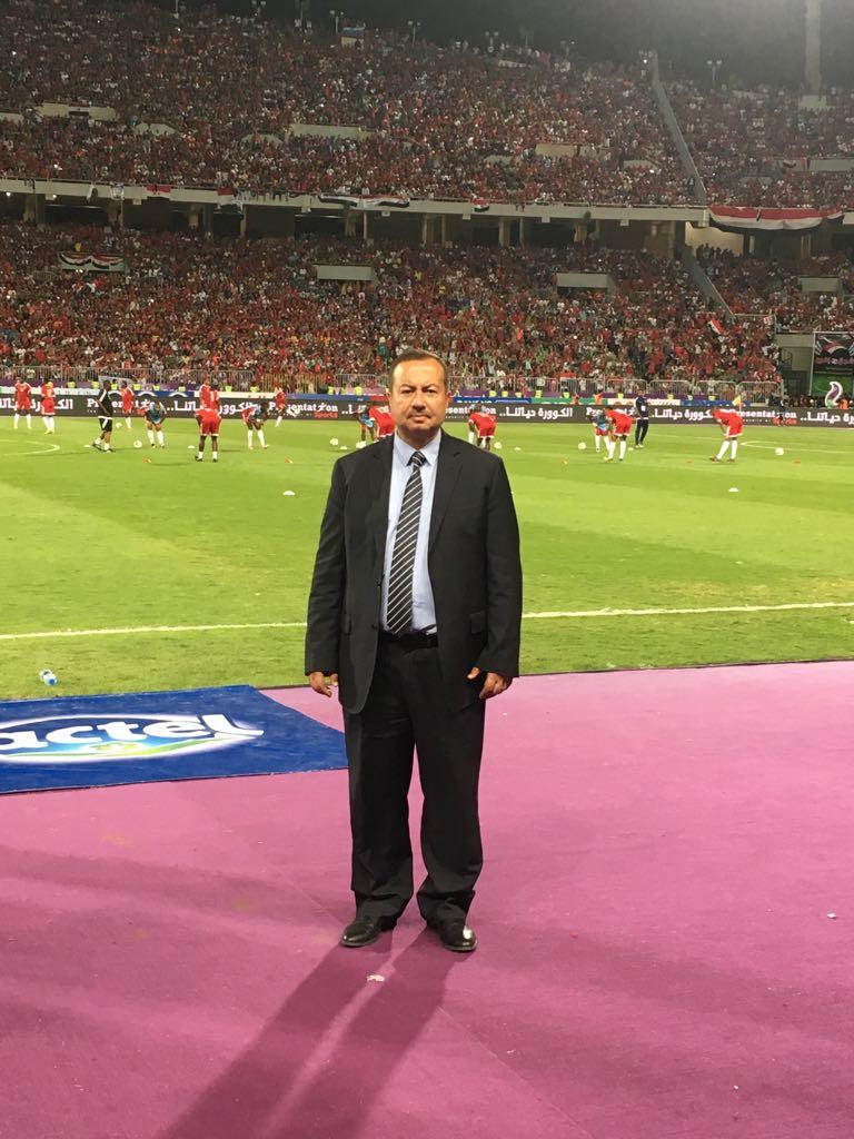 هشام بملعب  برج العرب