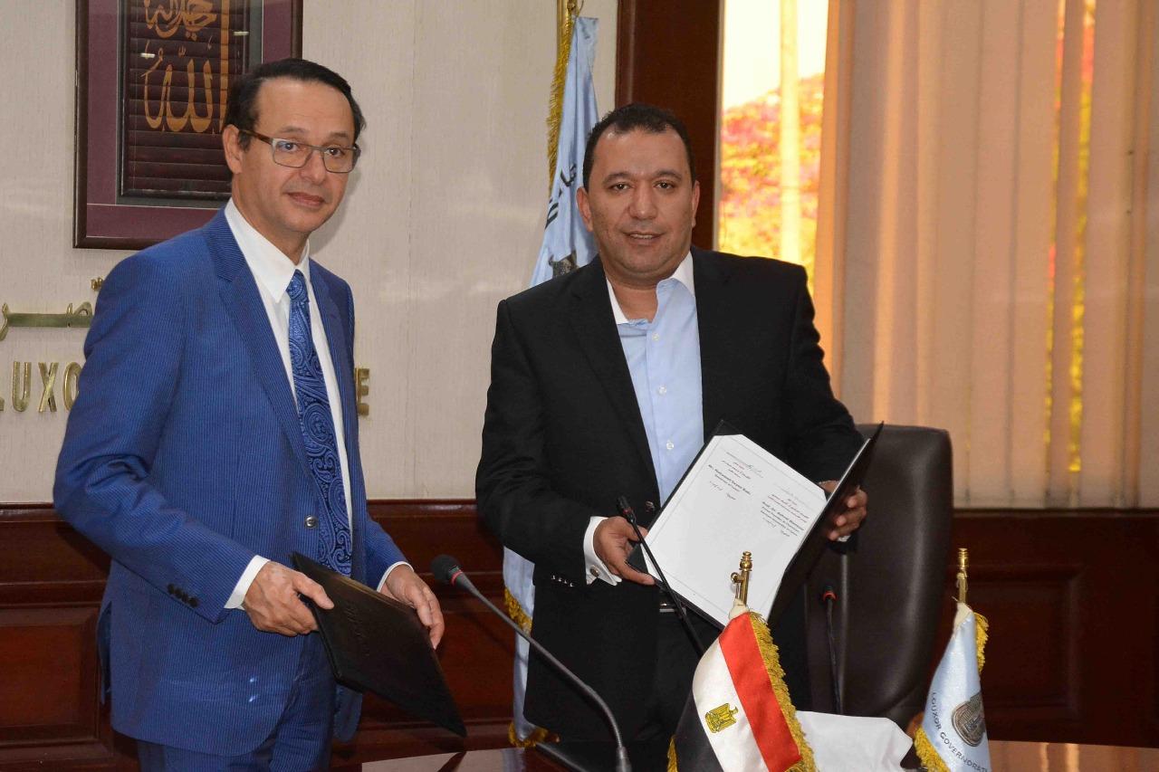 محافظة الأقصر توقع بروتوكول تعاون مع الجامعة الألمانية لتنفيذ مشروعات تنموية  (4)