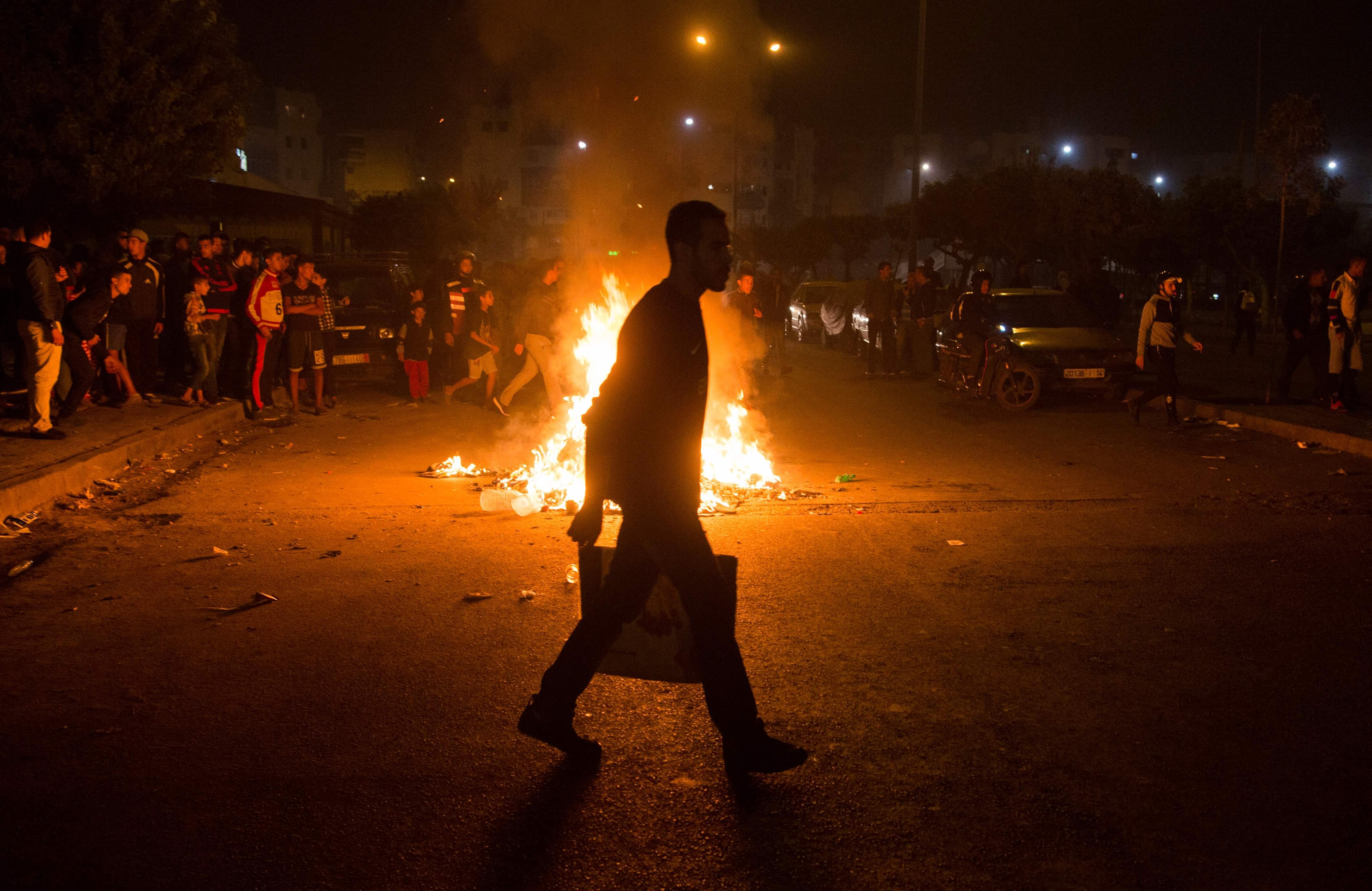 جانب من العنف فى الدار البيضاء