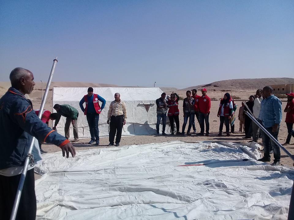 مدينة الطود تنظم معسكر تجريبي لخيام الإيواء إستعداداً للأمطار والسيول (1)