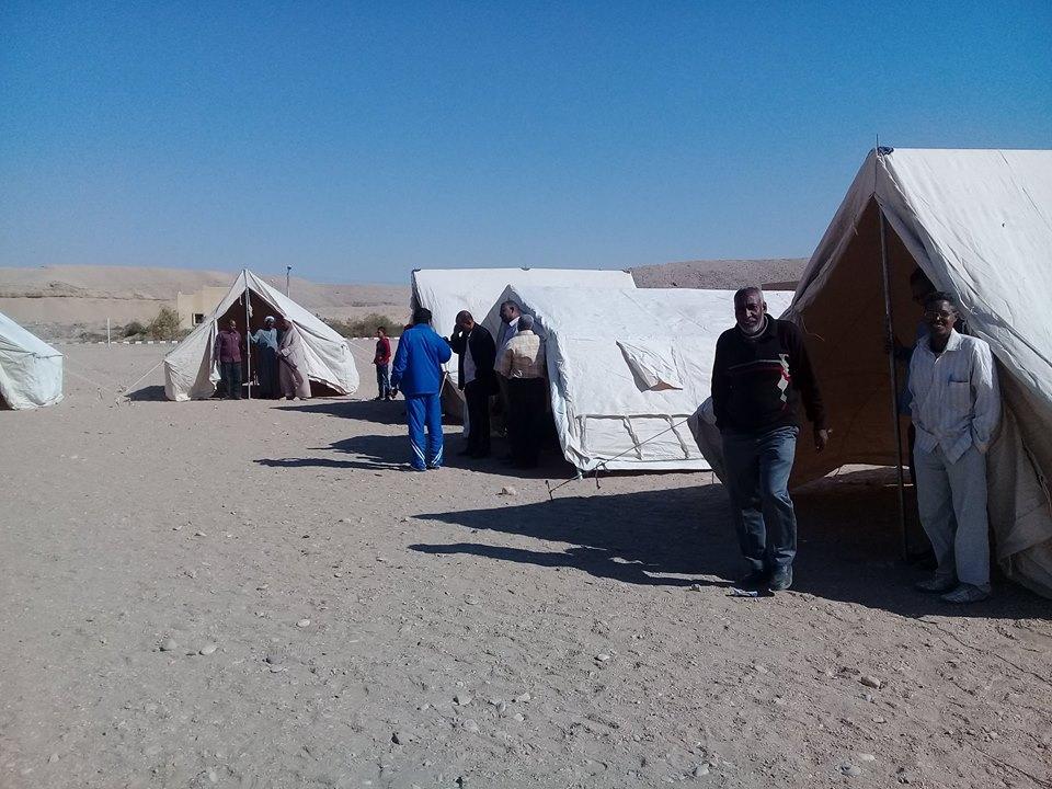 مدينة الطود تنظم معسكر تجريبي لخيام الإيواء إستعداداً للأمطار والسيول (4)