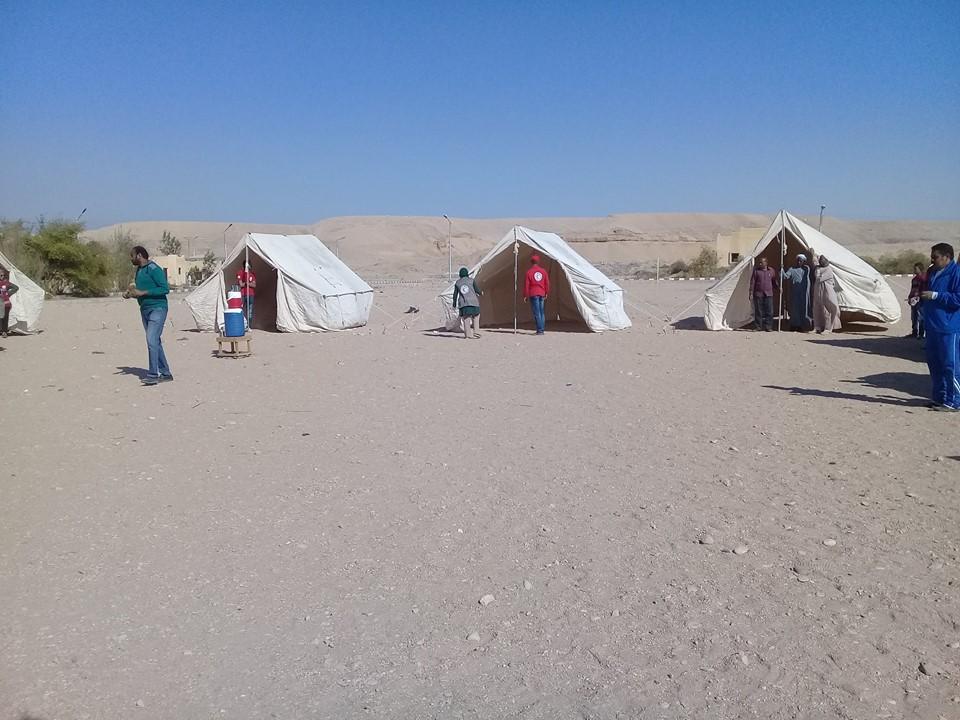 مدينة الطود تنظم معسكر تجريبي لخيام الإيواء إستعداداً للأمطار والسيول (2)