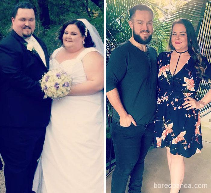أزواج خسروا الوزن معاً
