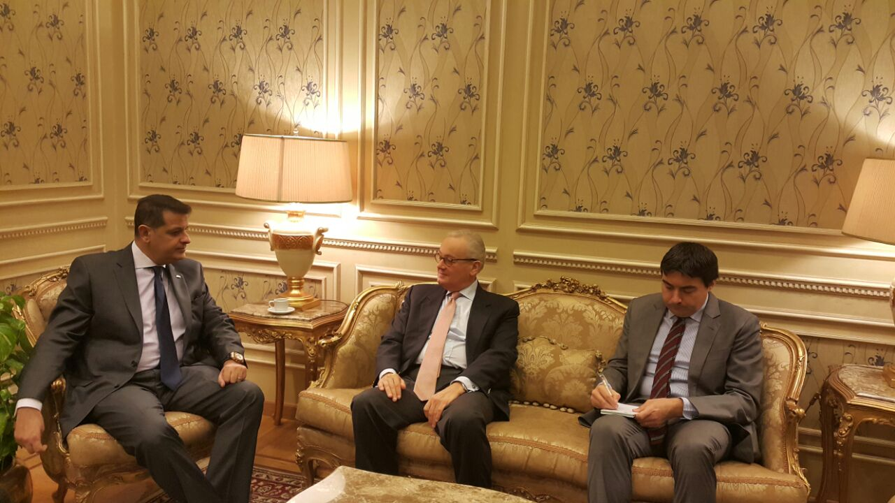 رئيس خارجية البرلمان يلتقى بسفير إيطاليا بالقاهرة (3)