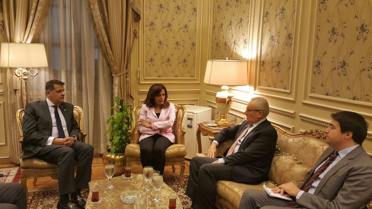 رئيس خارجية البرلمان يلتقى بسفير إيطاليا بالقاهرة (1)
