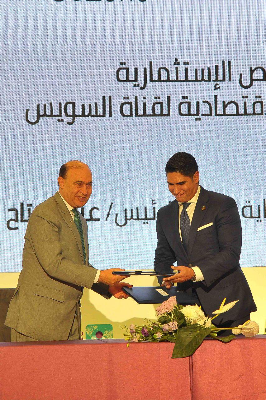 توقيع 6 عقود بين المنطقة الاقتصادية لقناة السويس ومستثمرين بحضور رئيس الوزراء  (1)