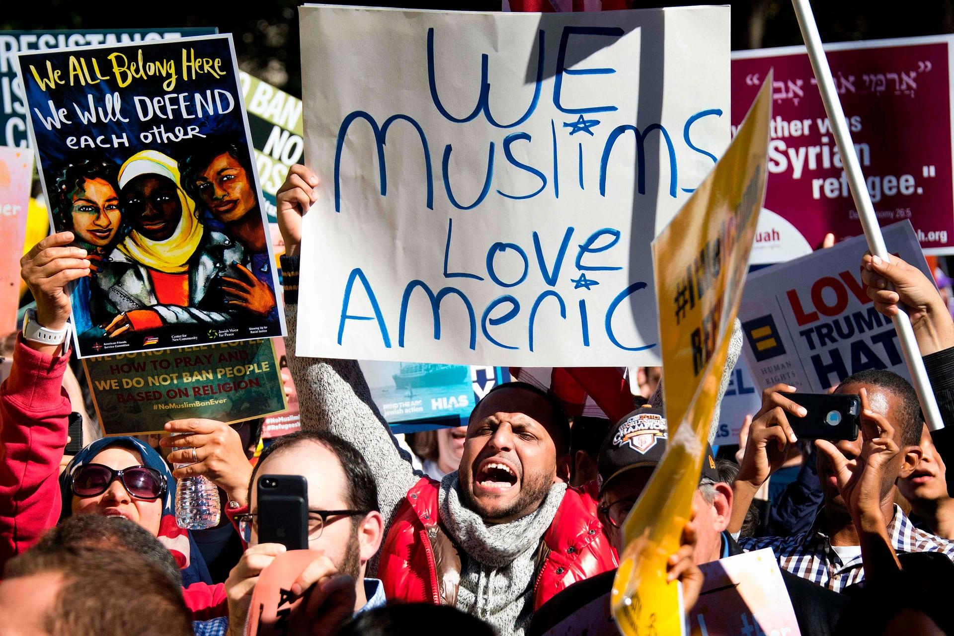 مسيرة ضد ترامب