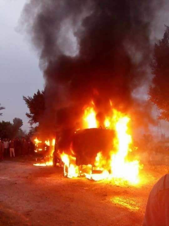 حريق سيارة فنطاس  (3)