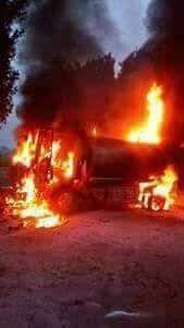 حريق سيارة فنطاس  (1)