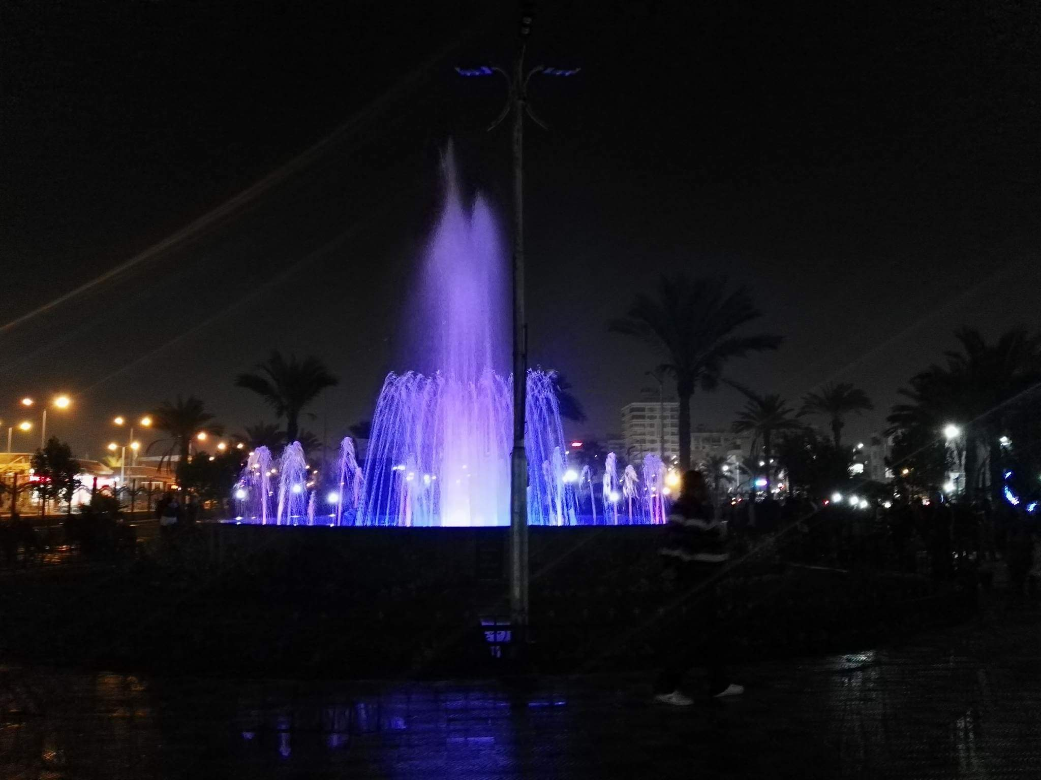 افتتاح النافورة الراقصة ببورسعيد ٤