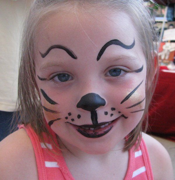 amusing-simple-cat-face-paint-painting-for-kids-coloring-pages