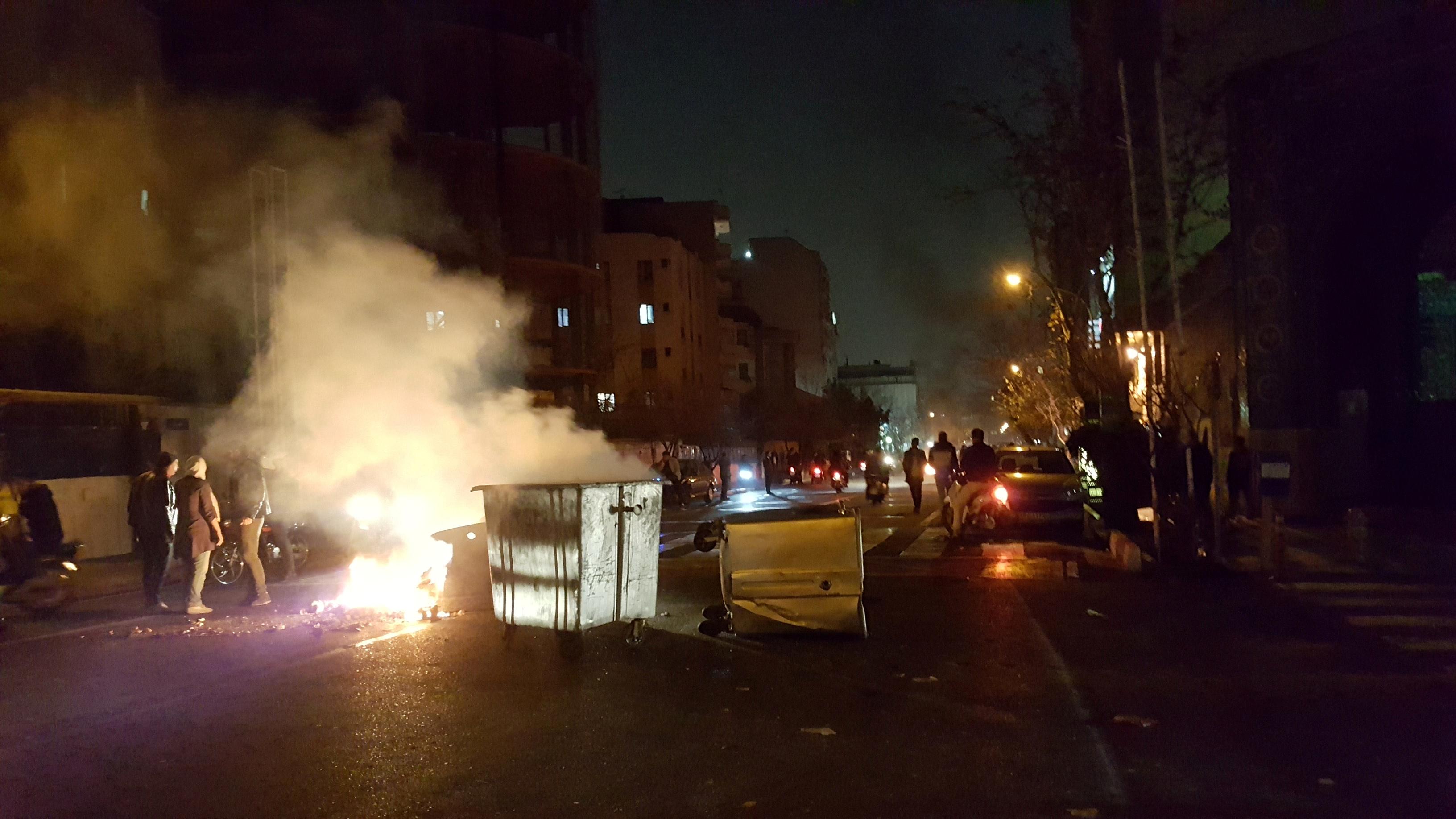 استمرار أعمال العنف فى ايران