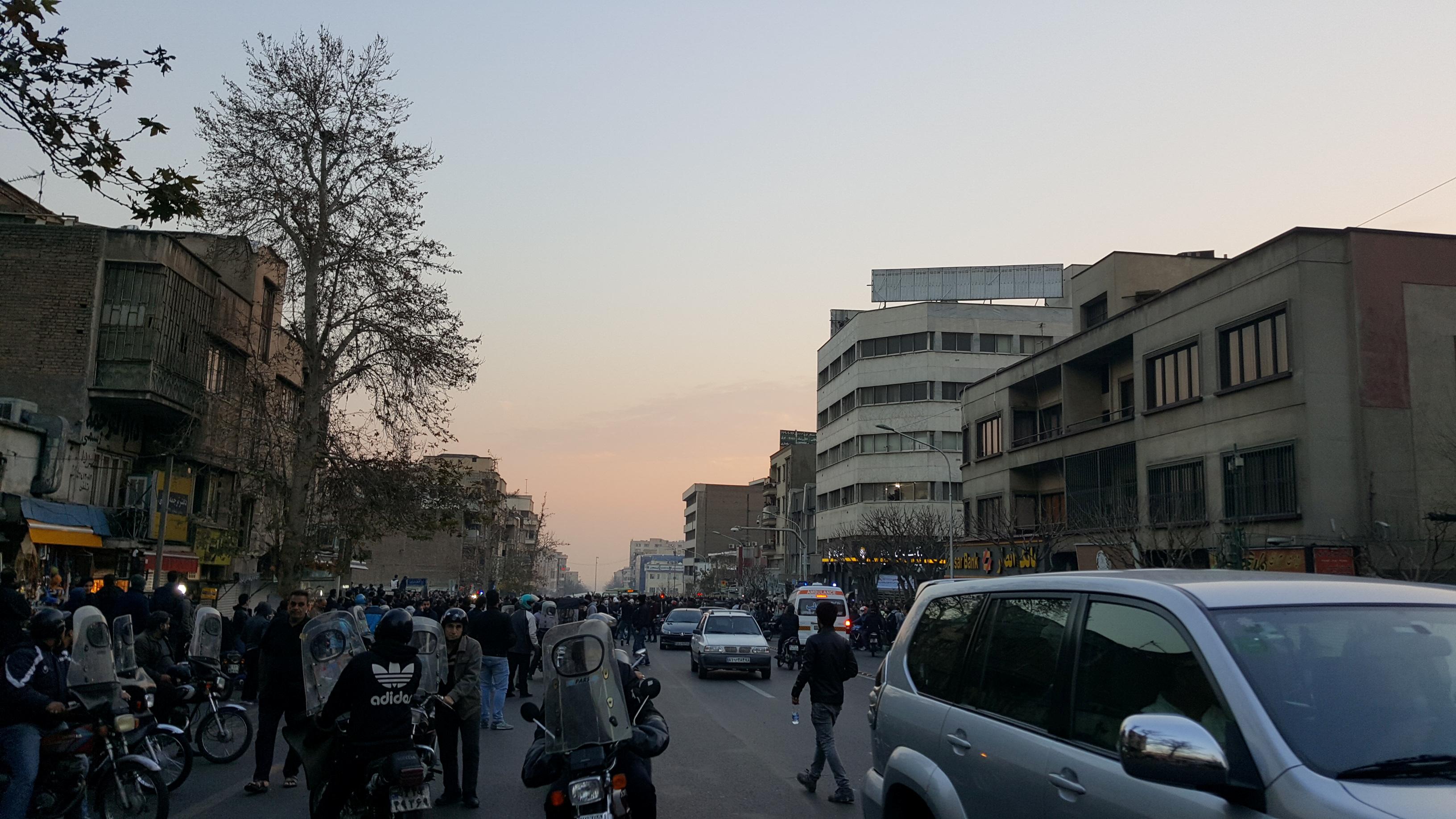 جانب من الاحتجاجات فى ايران