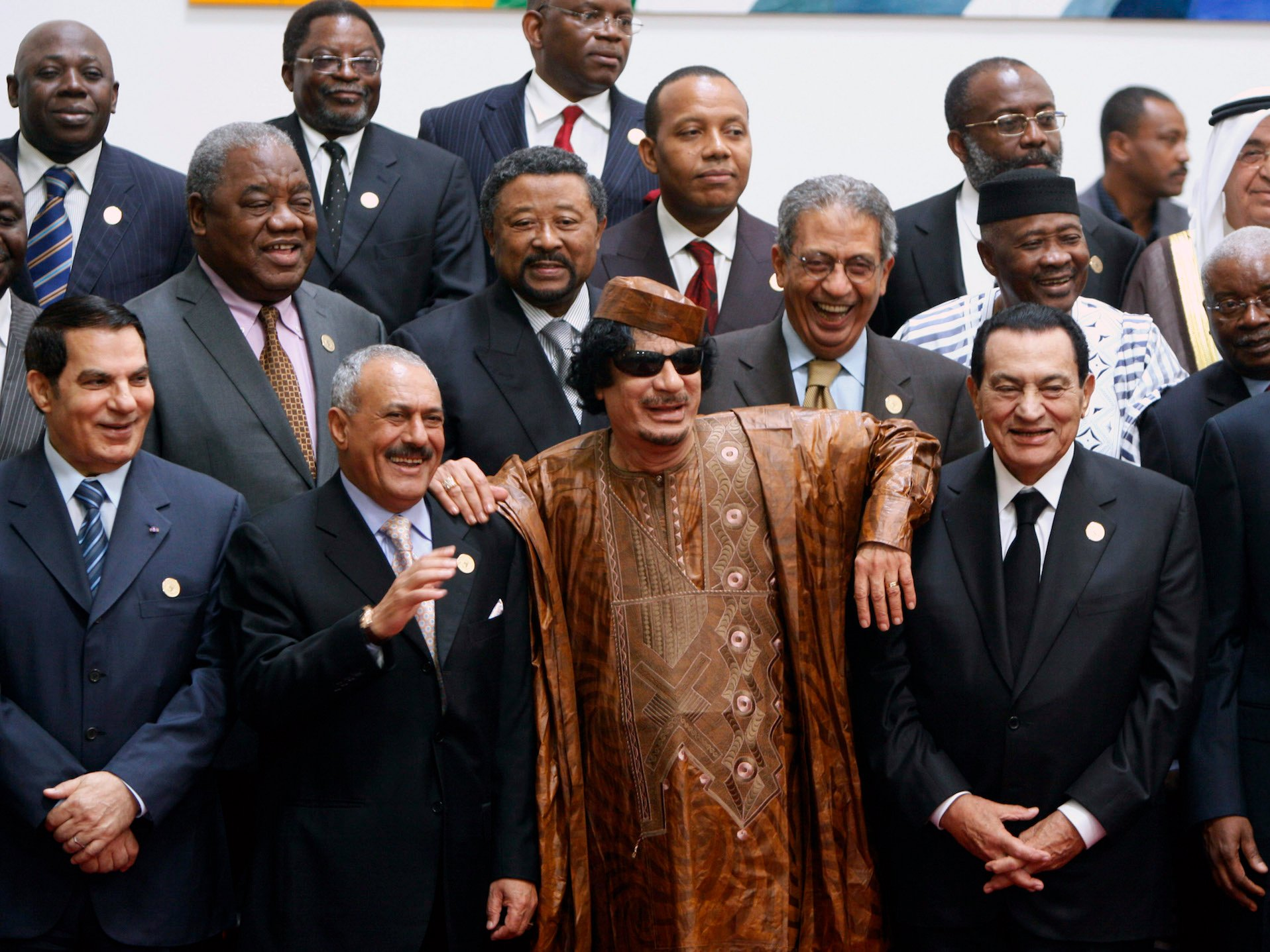 moammar gadhafi hosni mubarak ali abdullah saleh zine el abidine ben ali
