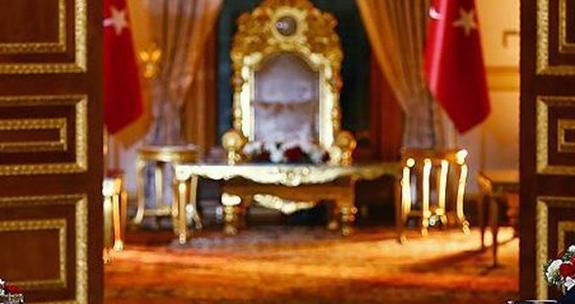 كرسي أردوغان الذهبي