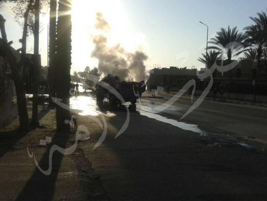 تفجير مدرعة العريش بشارع البحر (4) copy