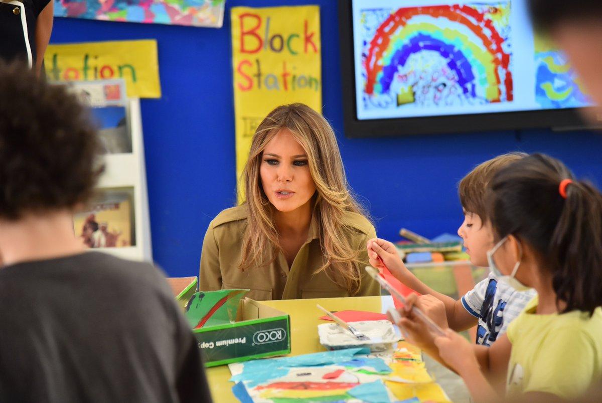 زيارة ميلانا ترامب للمدرسة الأمريكية في السعودية