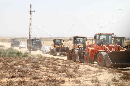 حملة إزالة التعديات على الأراضى بالجيزة (9)