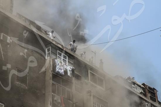 حريق بسوق الملابس في إمبابة (3)