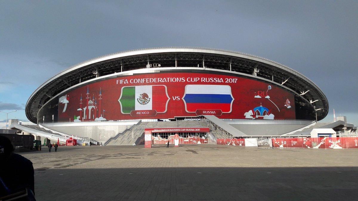 ستاد كازان يستعد لمباراة روسيا والمكسك في كأس القارات