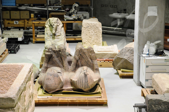 ترميم آثار المتحف الكبير (14)