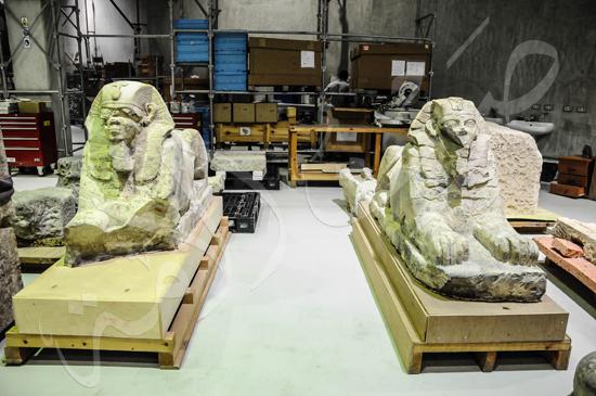 ترميم آثار المتحف الكبير (9)
