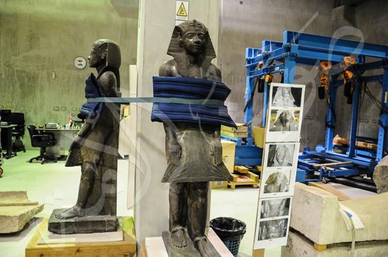 ترميم آثار المتحف الكبير (5)