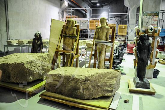 ترميم آثار المتحف الكبير (12)