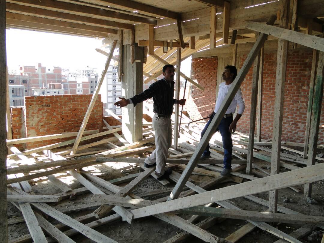 وقف أعمال بناء مباني مخالفة بالبحيرة
