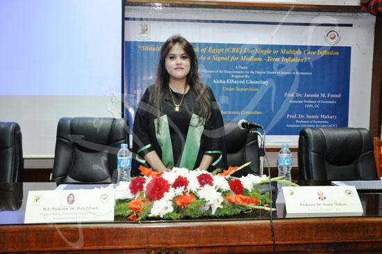 وزيرة التخطيط تناقش رسالة عائشة غنيمي (1)