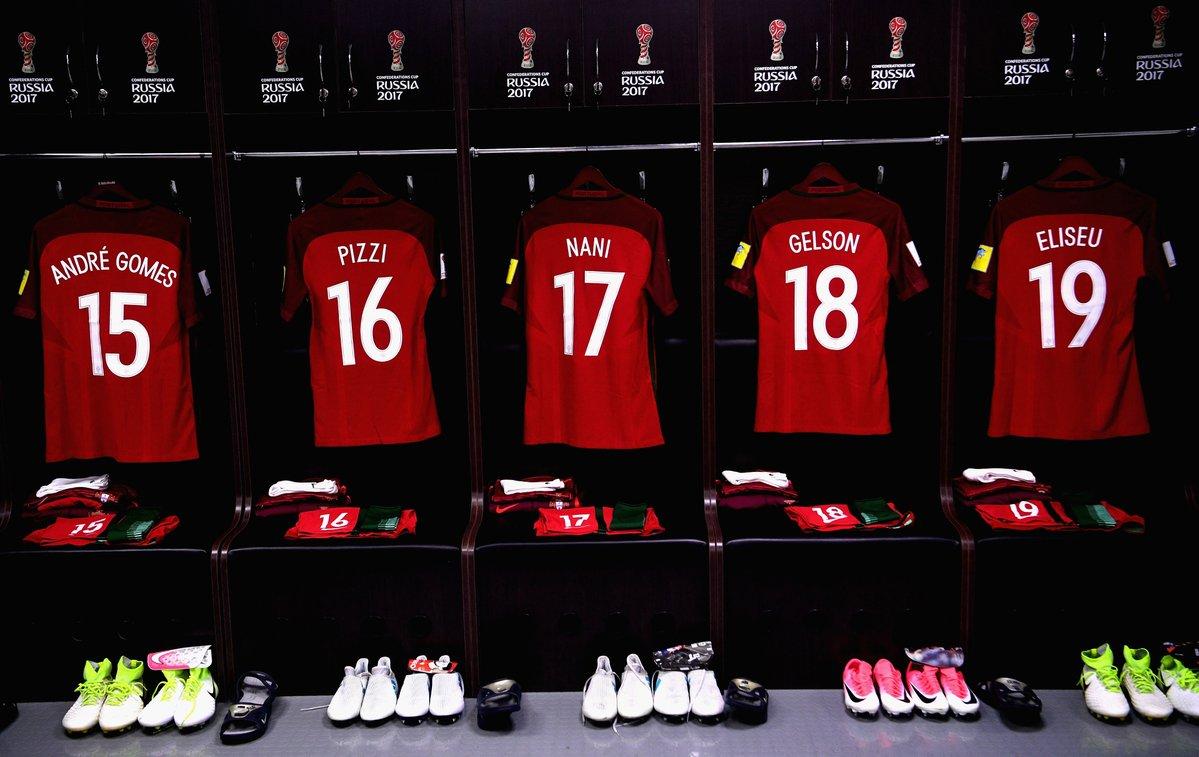 غرفة تبديل ملابس المنتخبين المكسيك والبرتغال