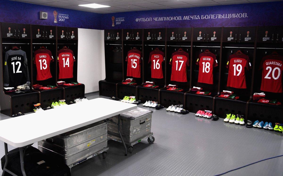 من غرفة تبديل ملابس المنتخبين البرتغال والمكسيك