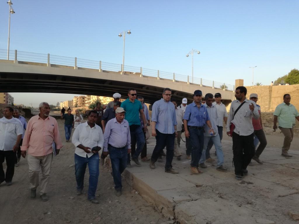 اللجنة الهندسية لمشروع إحياء طريق الكباش الفرعوني تواصل عملها بالأقصر (6)