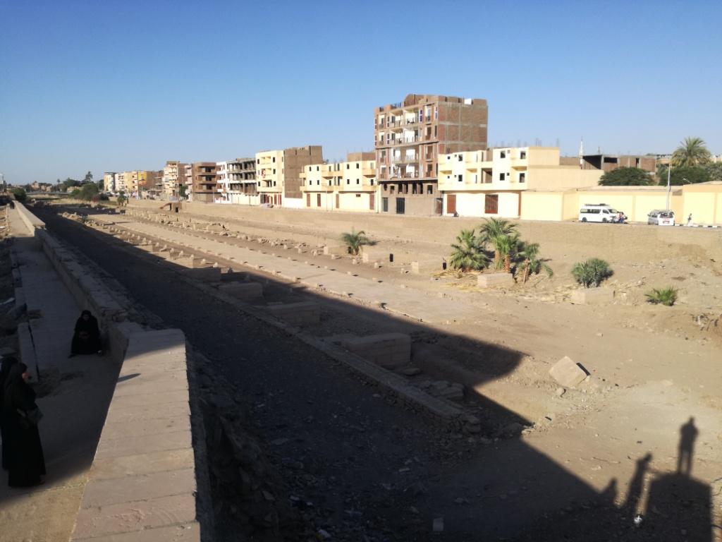 اللجنة الهندسية لمشروع إحياء طريق الكباش الفرعوني تواصل عملها بالأقصر (4)