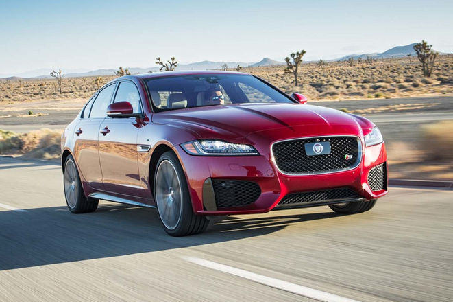2017-Jaguar-XF-S-AWD-front-three-quarter-in-motion-e1477930448860