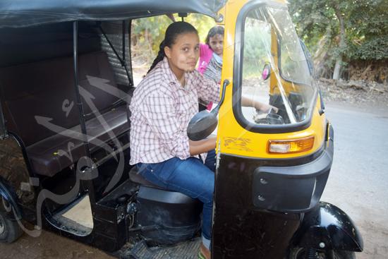 أصغر سائقة توك توك مع محررة صوت الأمة (8)