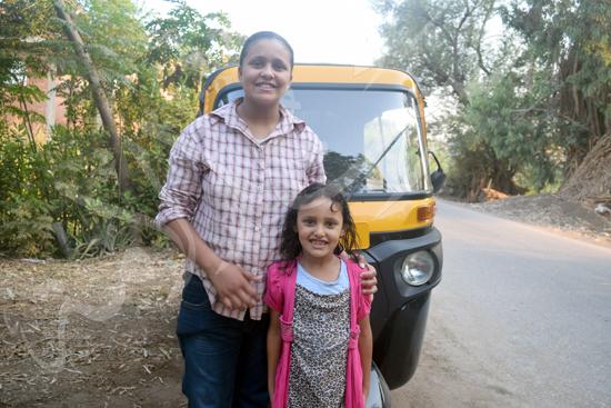 أصغر سائقة توك توك مع محررة صوت الأمة (3)