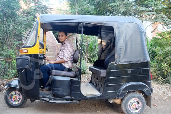 أصغر سائقة توك توك مع محررة صوت الأمة (6)