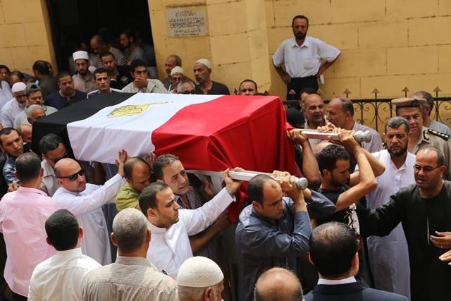 جنازة الشهيد ملازم أول تامر عبدالحافظ  (1)