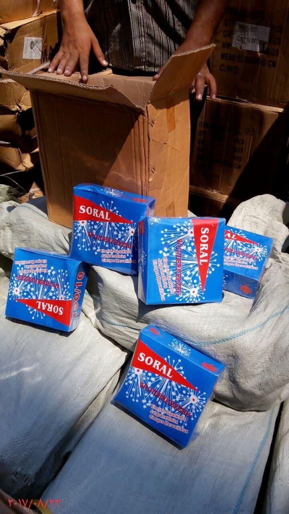 ضبط 400 الف قطعة العاب نارية مهربة داخل حاويتين ببورسعيد (8)