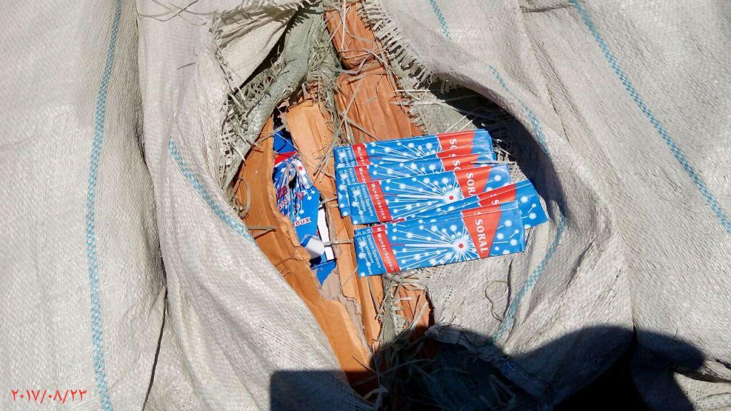 ضبط 400 الف قطعة العاب نارية مهربة داخل حاويتين ببورسعيد (1)