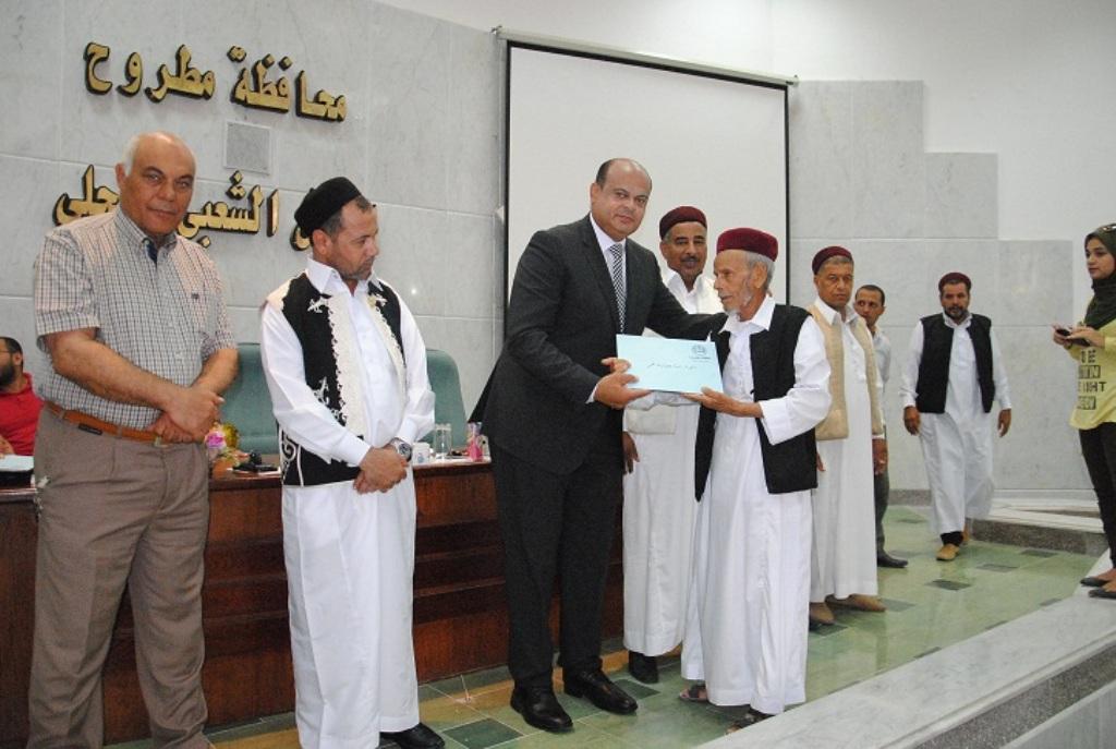 محافظ مطروح يكرم رموز المحافظة وأسماء أبطال وادي ماجد  (8)