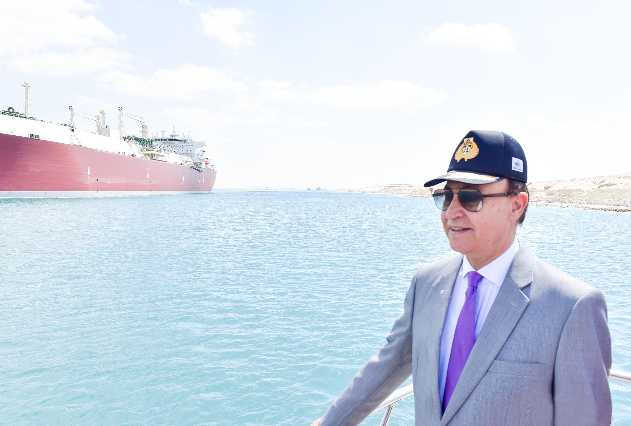 الفريق مهاب مميش رئيس هيئة قناة السويس رئيس الهيئة العامة الاقتصادية لمنطقة القناة