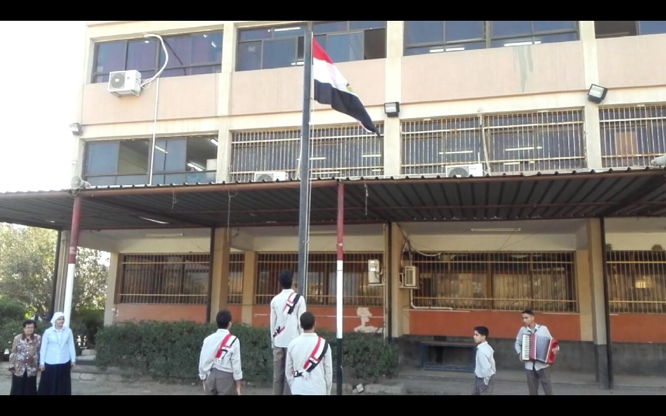 1-تحية العلم بمدارس بنى سويف