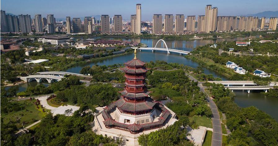 منظر جمالي لمدينة شيامين الصينية