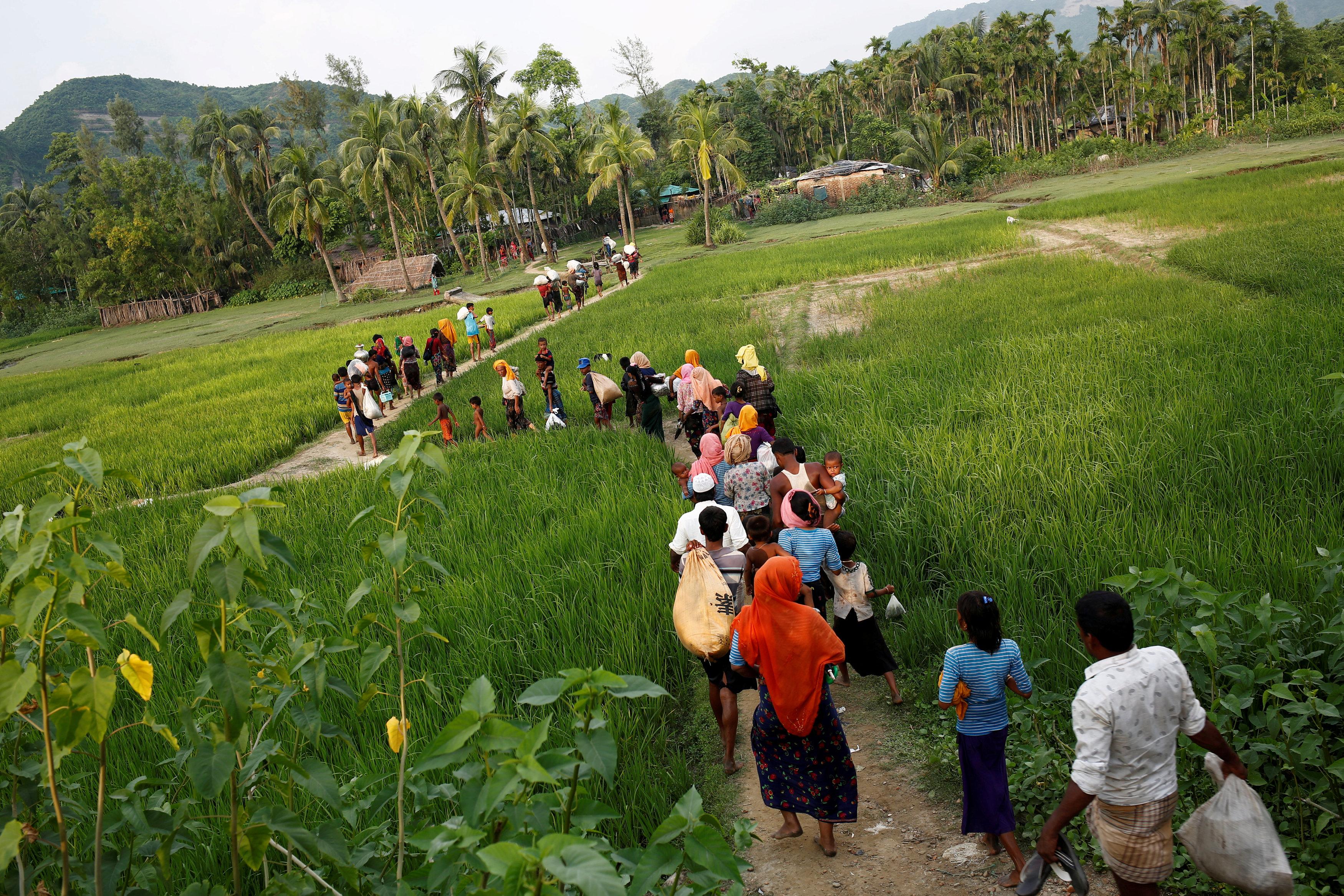 جانب من أقلية الروهينجا